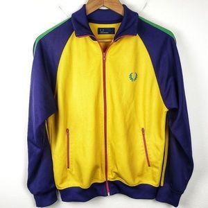 Vintage Mens FRED PERRY Acid Colorway Track Jacket